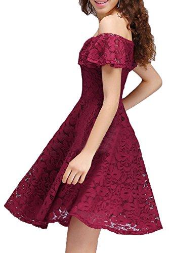 Missdressy -  Vestito  - linea ad a - Donna rosso scuro 38