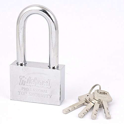 uxcell 60mmx42mm Chain Door Locking Security Shackle Padlock Lock w 4 Keys by uxcell