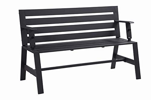 Liberty Garden Patio SB-PBT Cameron Convertible Bench, Black (Garden Table Small Black)