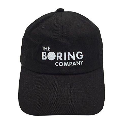 Binbin Lin Boring Company Baseball Cap Embroidered Dad Hat Adjustable Snapback Strapback Cotton Unisex Black