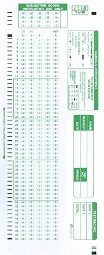 Precision Data Products Scantron 882-E Compatible 100 Answers Testing Forms, Pack of 500
