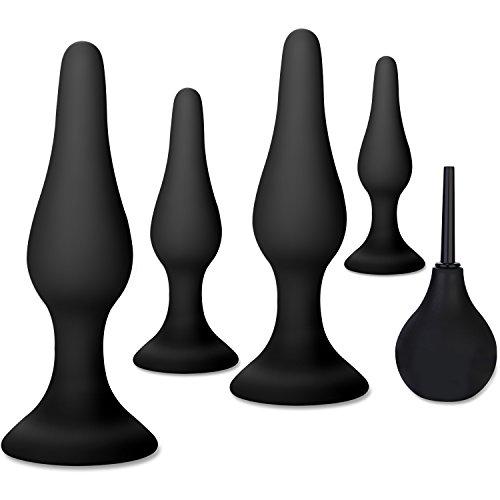 Upinva 4&3 Butt Plugs - Beginner Starter Set - 100% Medical Grade Silicone - Body Safe - Hypoall…
