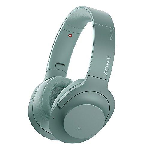 소니 SONY 무선 노이즈 캔슬링 헤드폰 h.ear on 2 Wireless NC WH-H900N 블루투스 고해상도 지원 최대 28 시간 연속 재생 밀폐형 마이크와 2017 년 모델 호라이즌 그린 WH-H900N G