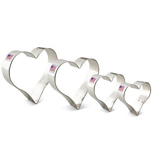 Ann Clark Heart Cookie Cutter Set - 4 Piece - 2 5/8
