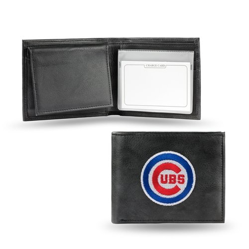 Chicago Cubs Embroidered Logo Genuine Leather Billfold Wallet