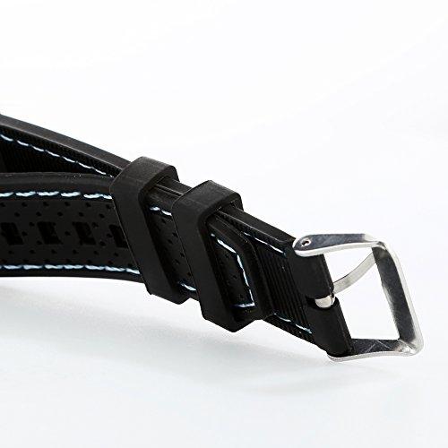 FinancePlan Men's Fashion Quartz Analog Watches, Silicone Rubber Band Stainless Steel Wrist Watch on Sale Clearance by FinancePlan (Image #3)