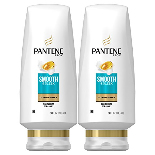 Pantene Argan Oil Conditioner for Frizz Control, Smooth and Sleek, 24 Fl Oz (Pack of 2) (Packaging May Vary)