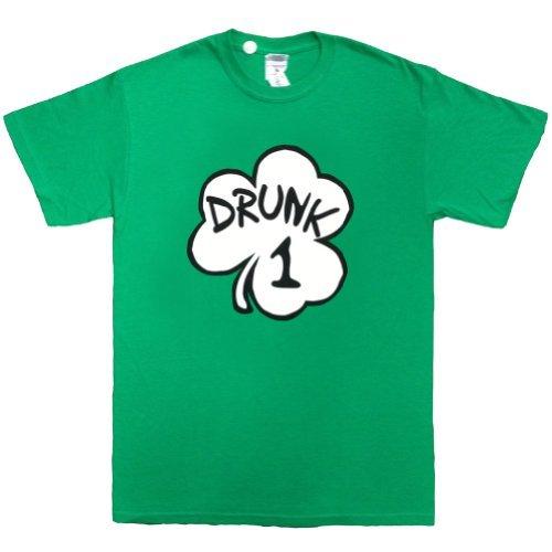 Drunk 1 Irish Green Costume Inspired by Dr. Seuss Adult T-Shirt Tee (Medium) (Drunk 1 Costume Tshirt)