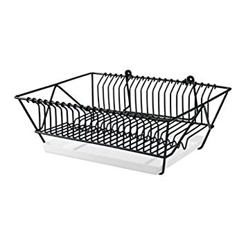 (Ikea Steel Dish Drainer 802.131.73, Black)