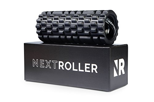 NextRoller 3-Speed Vibrating Foam Roller – High Intensity Vibration for Recovery, Mobility, Pliability Training & Deep Tissue Trigger Point Sports Massage Therapy – Firm Density Electric Back Massager