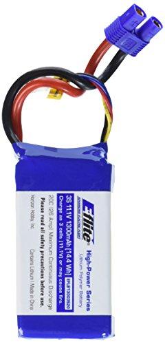 E-flite 1300mAh 3S 11.1V 20C LiPo: EC3, EFLB13003S20