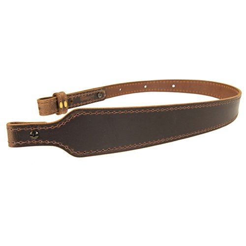 Nohma Leather BF70022_Buffalo Leather Cobra Rifle Gun Sling_Crazy Horse/Brown_Amish Handmade