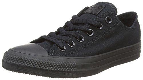 Converse Unisex Chuck Taylor All Star Sneakers Basse Nere Monocromatiche