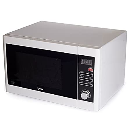 Igenix IG3091 Digital Combination Microwave with Grill and Convection, 5 Power Levels and 10 Auto Cooking Menus, 95 Minute Timer, 900 W, 30 Litre, Stainless Steel