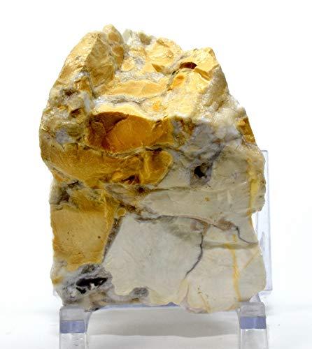 - 305g Orbicular Jasper in White Yellow Chalcedony Agate w/Quartz Druzy Rough Natural Gemstone Crystal Mineral Specimen - India