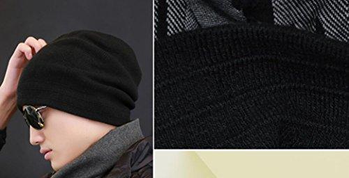 nbsp;de con nbsp;– forro punto elwow calavera Beanie laterales Cap de de de mujer Reversible mezcla suave esquí hombre lana polar dos AAvqXz