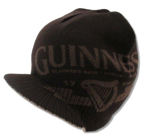 Bioworld Adult Guinness Beer Clover Billed Brim Brown Reversible Beanie Hat
