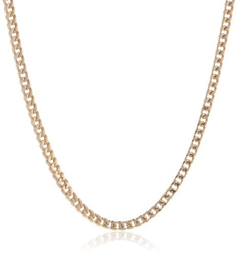 Gold Tone Stainless Foxtail Necklace 22