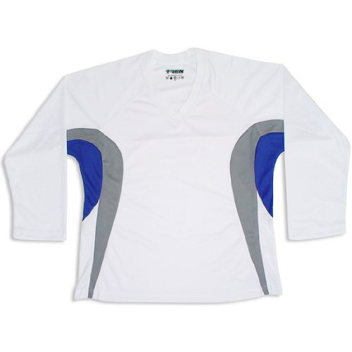 aa0fe7397 Tron DJ200 Dry Fit Hockey Jersey (White Royal)