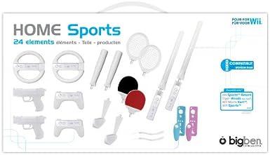Bigben Interactive Sport Pack 24 - Volante/mando (Especial, Wii, Analogue / Digital, Inalámbrico, Color blanco): Amazon.es: Videojuegos
