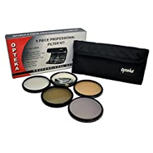 Opteka 58mm High Definition II Professional 5 Piece Filter Kit includes UV, CPL, FL, ND4 and 10x Macro Lens For Canon EF-S 55-250mm f/4.5-5.6 IS USM, EF 70-300mm f/4.5.5.6 DO IS USM, 75-300mm f/4-5.6 IS USM, 75-300mm f/4-5.6 III, & 100-300mm f4.5-5.6 USM SLR Lenses