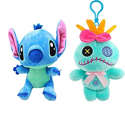 Best Quality - Plush Keychains - Lilo and Stitch Plush Keychain Pendant Toys Cute Doll Soft Stuffed Animals Toys for Children Kids Xmas Gifts 10cm - by NEWSTARWAR - 1 PCs: Office Products