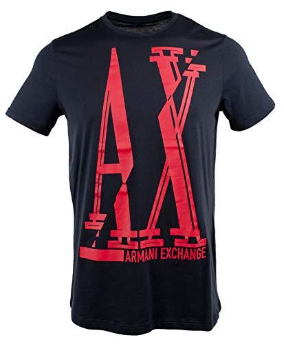 Exchange Men's Slim Short Sleeve Crewneck T-Shirt-BR-XL Blue/Red