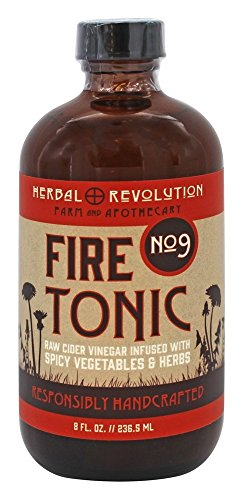 Herbal Cider Tonic (Herbal Revolution - Raw Cider Vinegar Fire Tonic No. 9 Spicy Vegetables and Herbs - 8 oz.)