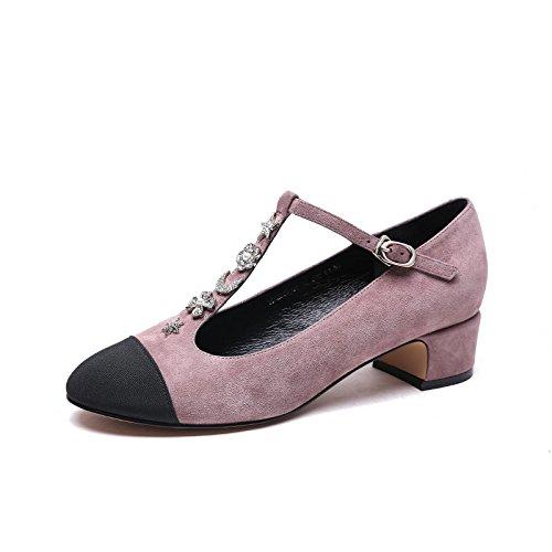 de con zapatos Tacones moda Bean los Fashion Jqdyl ásperos Los New color deletrean sand Spring zapatos del tF6wnq