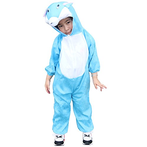 Blue Cat Costumes (Children Party Costume Cartoon Animal Costume funny Clothes Performance Kids Cosplay Costume (XL(Height 47.2