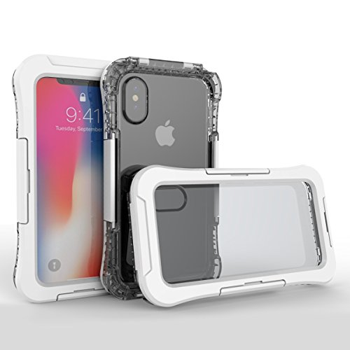 Happon iPhone X iPhone Xs Waterproof case, Extreme Full-Body Extreme Underwater Shockproof Extreme Dirtproof Durable Sealed Cover Shell Case Skin Protector for iPhone X iPhone Xs White ()