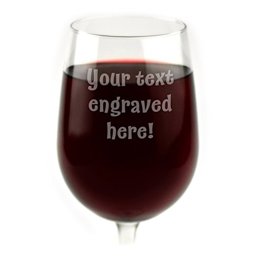 Personalized Wine Glass Engraved with Your Custom Text