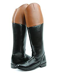 Hispar Royal Women Ladies Fox Hunting Hunt Dress Boots Without Back Zipper Tan Top