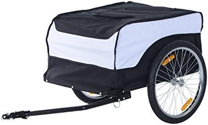 HOMCOM - Transportín Plegable para Bicicleta o Remolque con Marco ...