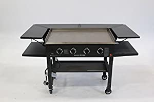 Blackstone Signature Accessories 36 Inch Griddle Surround Table Accessory Powder Coated Steel Grill Not Included And Doesn T Fit The 36 Griddle With New Rear Grease Model Amazon Sg Lawn Garden