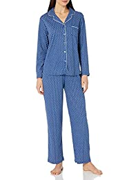 Women's Pajama Long Sleeve Geo Print Girlfriend Pj Set
