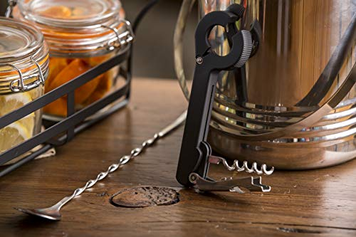 """Tablecraft 12"""" bar Mixing Spoon with Fork (H503K),, Silver"""