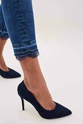 Wonder Azzuro Dettagli Jeans In Capri Salsa Con Pizzo z65wqp