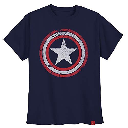 Camiseta Capitão América Camisa Escudo Steve Rogers G