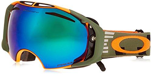 Oakley OO7037-20 Airbrake Eyewear, Disruptive Olive/Orange, Prizm Jade Iridium - Interchangeable Goggles Lenses Oakley