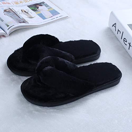 Donna Pantofole Pink Home On Scarpe Invernali Black Plus Ciabatte Slip Size Flats Inverno Dongtx Calde Moda Infradito TXpqfW