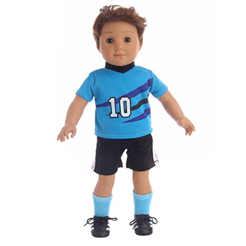 Livoty Clearance! Football Sports Clothes Outfits For Our Generation American Boy Doll Clothes Fits 18