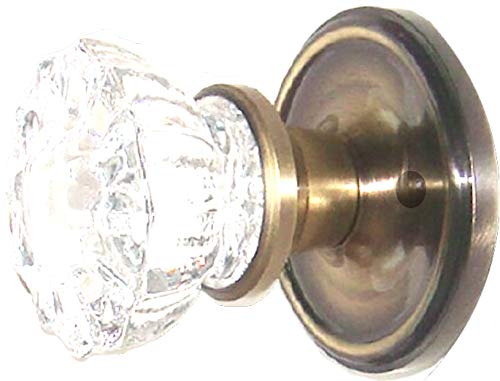 12 point Depression Crystal Glass Passage Door set for Standard modern drilled doors that are 1-3/8