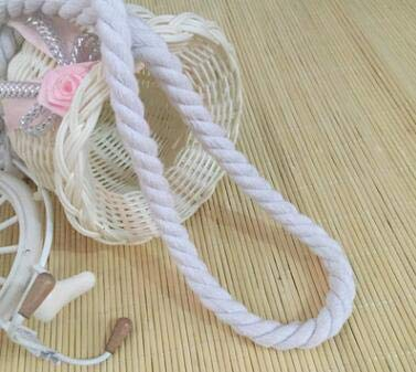 FINCOS 100% Cotton 10 Meters 3 Shares Twisted Cotton Cords 10mm DIY Craft Decoration Rope Cotton Cord for Bag Drawstring Belt 12 Colors - (Color: Drifting White) by FINCOS