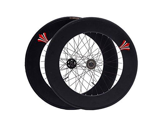 Fixed Gear bike wheelset 90mm RIM aluminum alloy flip-flop wheels road fixie Track bike wheelrim (Matte Black, 90mm) - Alloy Track Hubs
