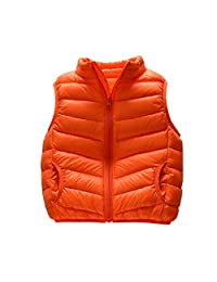 AIKSSOO Toddlers Little Kids Winter Puffer Vest Sleeveless Lightweight Jacket Coat
