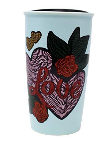 - Starbucks 2019 Valentine's Day Love and Hearts Traveler 12 Oz, Blue