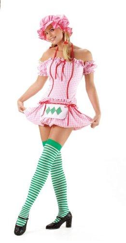 Strawberry Girl Adult Costume - (Strawberry Shortcake Costume Shoes)