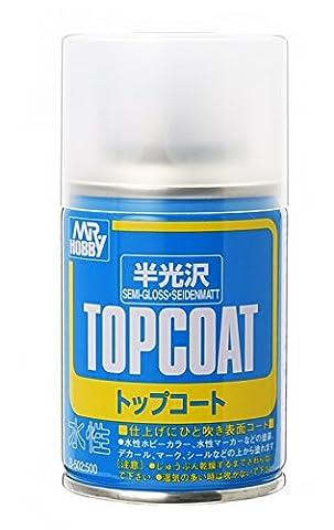 TOPCOAT Gundam Mr. Hobby Top Coat Semi-Gloss NET 88ml. Spray by GSI (Gloss Spray)