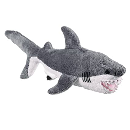 Amazon Com 11 Great White Shark Plush Stuffed Animal Toy Toys Games